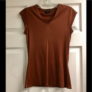 Jean Paul Gaultier rusty color top silky sizeS